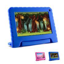Tablet Infantil Multilaser NB302 com Capa Azul Wi-Fi para Criança Aulas Online Youtube Netflix Jogos -