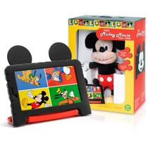 Tablet Infantil Multilaser NB327 Disney Mickey Mouse 7' Wifi 16GB + Pelucia Preto