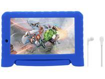 """Tablet Infantil Multilaser Vingadores Plus com  - Capa 8GB 7"""" Wi-Fi Android 7.0 Quad Core Câm. 2MP"""