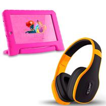 Tablet Infantil Princesa Wifi 8gb + Fone Bluetooth Amarelo - Multilaser