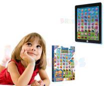 Tablet Inteligente Infantil Educativo Bilingue Atividades Luz e Som  Rosa - Art Brinks