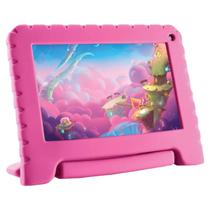 "Tablet kid pad lite 7"""" 16gb quad core android 8.1 rosa nb303 - Multilaser"