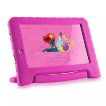 Tablet Multilaser Disney Princesas Plus NB281, Android 7, Tela 7,0, Memória 8GB, Wi-Fi - Rosa