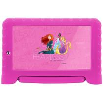 "Tablet Multilaser Disney Princesas Plus NB308, Rosa, Tela 7"", Wi-fi, Bluetooth, Android Oreo, 2MP, 16GB -"