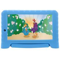 "Tablet Multilaser Galinha Pintadinha Plus NB311, Azul, Tela 7"", Wi-fi, Android Oreo, 2MP, 16GB -"