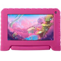 "Tablet Multilaser Kid Pad GO 7"" 16GB Multilaser Quad Core Android 8.1 Rosa - NB303 -"