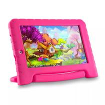 Tablet Multilaser KID PAD Plus Rosa Quad Core 1GB RAM Android 7 Dual Câm 1.3/2MP Tela 7 8Gb NB279