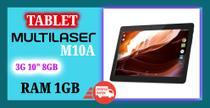 """Tablet Multilaser M10A 3G 10"""" 8GB preto com memória RAM 1GB -"""