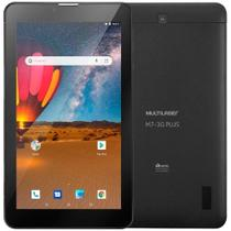 "Tablet Multilaser M7 3G Plus NB304, Preto, Tela 7"", Dual Chip, Wi-fi+3G, Bluetooth, Andoird, Câm traseira 2MP e 16GB -"
