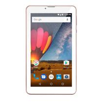 Tablet Multilaser M7 3G Plus Quad Core 1Gb Ram Câmera Tela 7 Memoria 8Gb Dual Chip Rosa  NB271