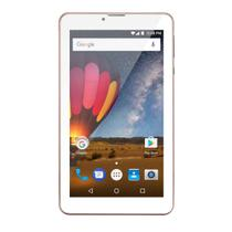Tablet Multilaser M7 3G Plus Rosa Quad Core 1GB RAM Android 7 Dual Câm Tela 7 8Gb Bluetooth NB271