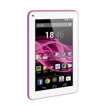 Tablet Multilaser M7S Rosa, Quad Core, Android 4.4, Dual Câmera, Tela 7, Wi-Fi, 8GB NB186