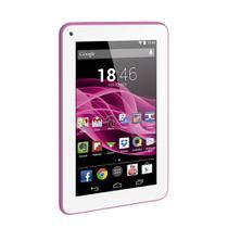 Tablet Multilaser M7S Rosa Quad Core Android 4.4 Kit Kat Dual Câmera Wi-Fi Tela Capacitiva 7 Pol. Memória 8Gb - NB186 -