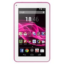 Tablet Multilaser M7S Rosa Quad Core Android 4.4 Kit Kat Dual Câmera Wi-Fi Tela Capacitiva 7 Pol. Memória 8Gb - NB186