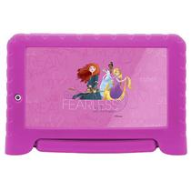 Tablet Multilaser NB281 Disney Princesas Plus Android 7.0 Quad Core 8G 7Pol Rosa
