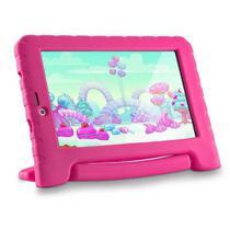 Tablet Multilaser NB292 Kid Pad 3G Plus 1GB Ram 16GB Quad Core Android 8.1 Oreo Rosa -