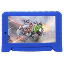 "Tablet Multilaser Vingadores Plus NB307, Azul, Tela 7"", Wi-fi, Bluetooth, Android Oreo, 2MP, 16GB -"