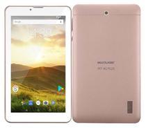 Tablet Rosa 4g Função Celular 7 Polegadas Novo + Cartão 32gb - Multilaser