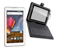Tablet Rosa Função Celular 2 Chip 3g Gps Whatsapp + Teclado - Multilaser
