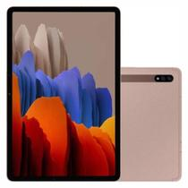 """Tablet Samsung Galaxy Tab S7 LTE 4G com Caneta S Pen 256GB - Bronze, Tela 11"""", RAM 8GB, Câmera Dupla 13MP + 5MP e Frontal 8MP -"""