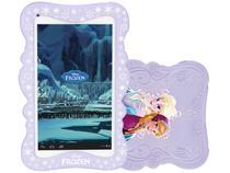 "Tablet Tectoy Frozen 8GB Tela 7"" Wi-Fi Android 4.4 - Proc. Quad Core Câmera 2MP + Frontal"