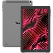 "Tablet Tela 10"" Wifi e 3G 32GB Philco PTB10RSG Android Pie 9.1 Cinza -"