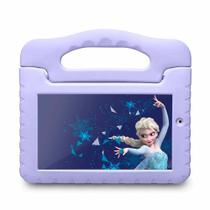 "Tablet Tela 7"" Android 8.1 Wi-Fi 16GB Multilaser Disney Frozen Plus NB315 Lilás -"