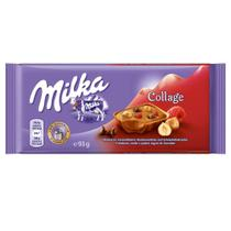 Tablete Chocolate Collage Raspberry 93g - Milka -