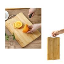 Tabua Corte Carne Frios cozinha Churrasco Bambu resistente - TopChef