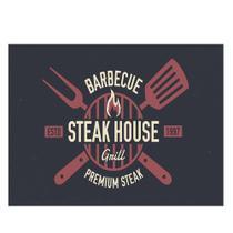 Tábua de Carne vidro Barbecue Steak 40x30cm Corte Churrasco - Dynasty