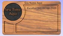 Tabua De Carnes Com Gaveta Inteligente Personalizada com Time - Dv Artes Em Madeira