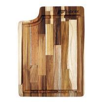 Tábua De Corte Carne Churrasco E Alimentos em madeira Teca para cuba Aquas Tubrax -