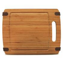 Tábua de corte em bambu com detalhes em silicone 30x23cm - Tyft