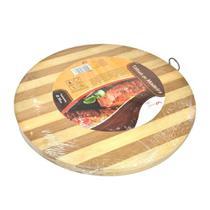 Tábua de corte em madeira de Bambu 30cm Ø - Wellmix