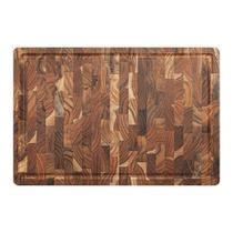 Tábua de corte em madeira Teca invertida Supreme 29,5x44x3,2cm Stolf -
