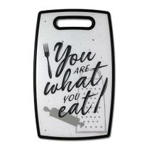 Tabua de Corte Frase Divertida You Are What Eat Tabua de Cozinha - Yaay