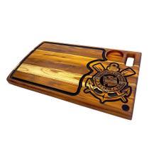 Tabua madeira para churrasco artesanal corinthians 60x35cm - rondo arts -