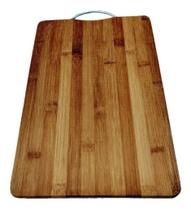 Tabua Para Churrasco Cortar Carne Legumes Em Bambu 36 X 26cm - Daterra