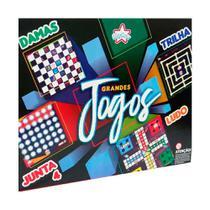 Tabuleiro Dama Ludo Trilha Junta 4 Grandes Jogos Bigstar 4X1 -