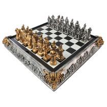 Tabuleiro de xadrez Luxo a Grande Batalha 32 peças. - Verito