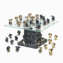 Tabuleiro de xadrez Luxo Batalha de Dragões 32 peças. - Verito -