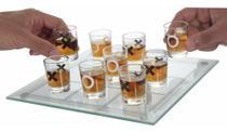 Tabuleiro Jogo Da Velha Com E Copos de Shot Tequila Drink - Exclusivo
