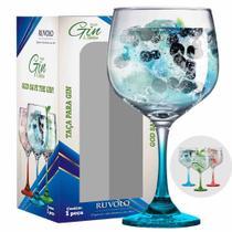 Taça de Gin Degrade de Vidro 650ml Azul - Ruvolo