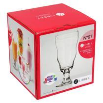 Taça Milkshake 4 peças Vidro Transparente 450Ml Libbey Momentos 18X8X8Cm -
