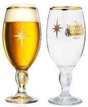 Taças Calice Stella Artois 330 Ml Dourada Celebration Natal -