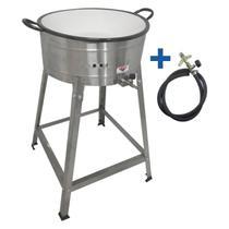 Tacho Fritador A Gás Alta Pressão 8 Litros Pasteleiro Com Cavalete - Cefaz -