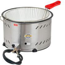 Tacho para fritura a gas com peneira cuba inox 7,5 lts al pressão - Marchesoni