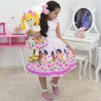 Tal Menina Tal Boneca - Vestido Moana Bebê luxuoso - Moderna Meninas