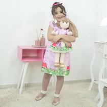 Tal Menina Tal Boneca - Vestido Peppa Pig Rosa e Boneca de Pano - Moderna Meninas