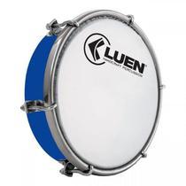Tamborim Azul 06 Luen, com chave de afinação. Tamborim para samba e outros. -